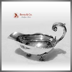 Massive Heavy Gravy Boat Pitcher Sterling Silver Sanborns 1960