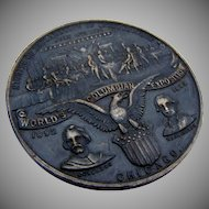 Worlds Columbian Exposition Medal Silver Oldenweck 1890