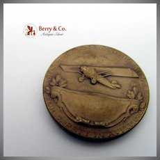 Joseph A Stienmetz Personal Safety In Aviation Medal Bronze Jos K Davison Sons 1920