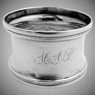 Antique Napkin Ring Coin Silver 1880