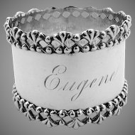 Openwork Shell Napkin Ring Sterling Silver Towle 1900