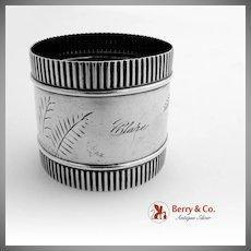 Aesthetic Napkin Ring Sterling Silver Gorham 1880