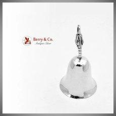 Modernist Blossom Tea Bell Sterling Silver E Ramirez 1960
