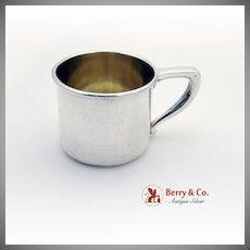 Gilt Baby Child Cup Sterling Silver Gorham 1940