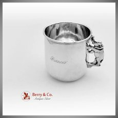 Standing Elephant Childs Cup Sterling Silver Wallace 1910