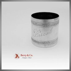 Embossed Scroll Napkin Ring Sterling Silver Wallace 1890