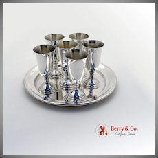 Aperitif Cordial Cup Set Sterling Silver Tuttle 1972