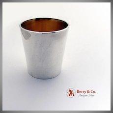 Heavy Bar Glass Sterling Silver Enamel Reed Barton 1950