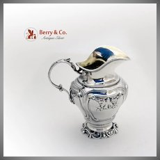 Ornate Scroll Shell Wide Mouth Creamer French 950 Sterling Silver Rudolphe Beunke 1890