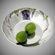 Arts And Crafts Hand Wrought Large Hammered Serving Bowl Sterling Silver Kalo 1930