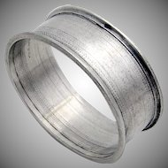 Engine Turned Oval Napkin Ring Sterling Silver 1940