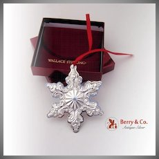 Snowflake Sterling Ornament 2003 Wallace Grande Baroque