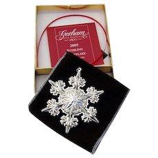 Gorham Christmas Ornament Sterling Silver 2005