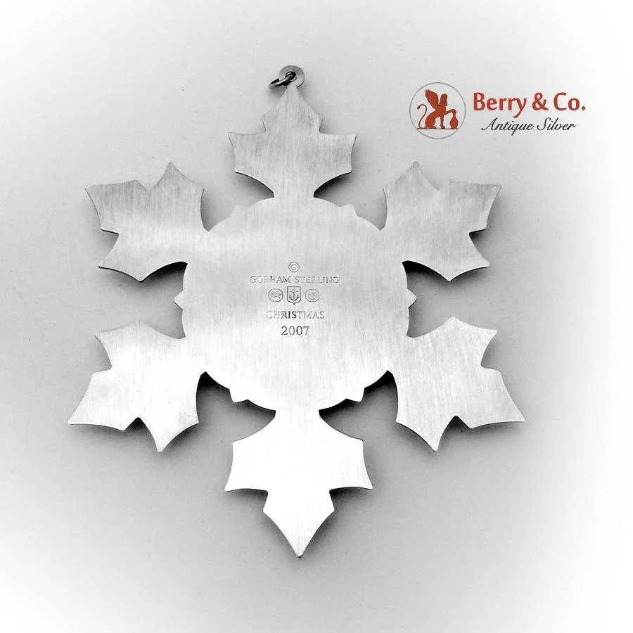 Gorham Christmas Ornament Sterling Silver 2007 : Berry ...