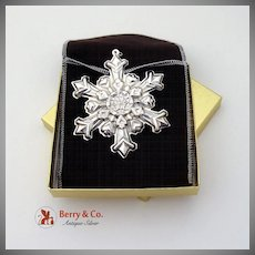 Gorham Christmas Ornament Sterling Silver 1995