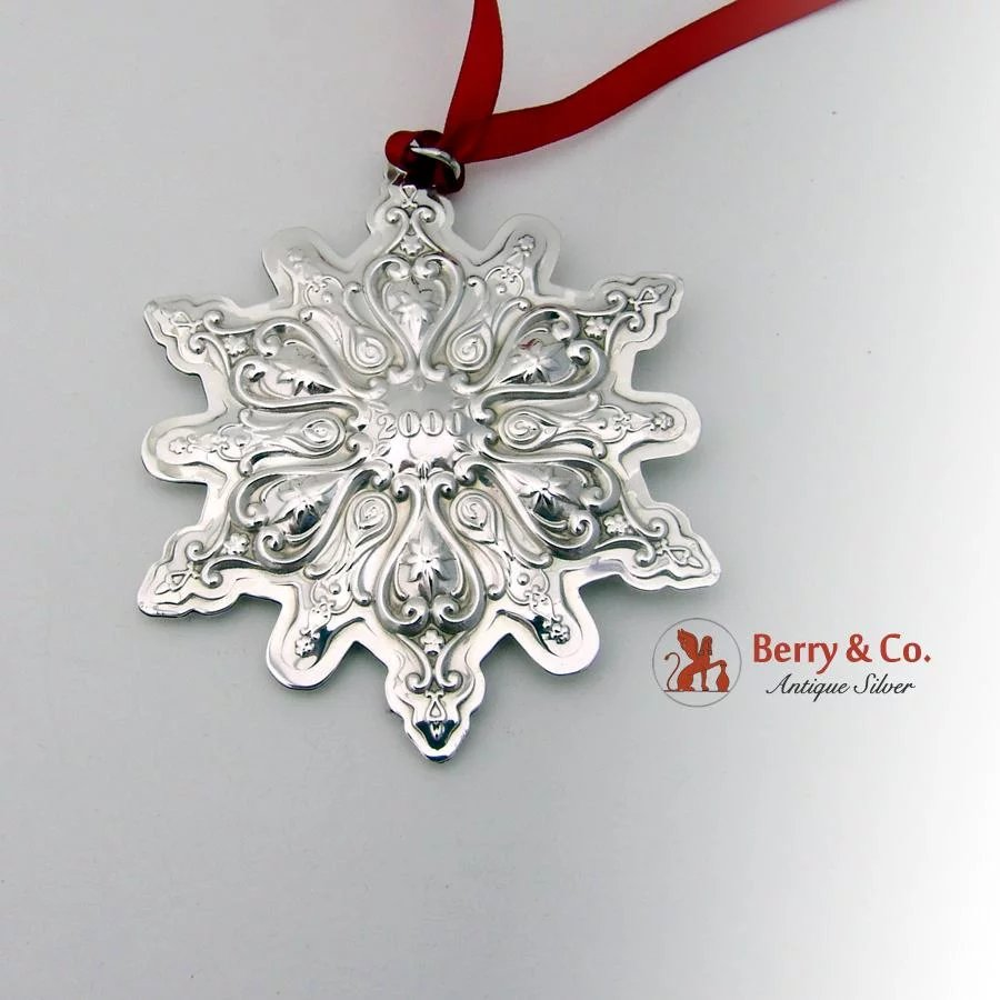 Christmas Ornament Snowflake Sterling Silver Towle 2000 ...