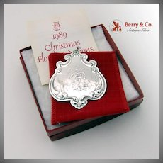 Christmas Ornament Floral Medallion Sterling Silver Towle 1989
