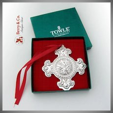 Christmas Ornament First In Celtic Series Sterling Silver Towle 2000