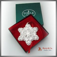 Christmas Ornament Snowflake Sterling Silver Towle 1996