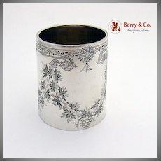 Elegant Edwardian Childs Cup Mug Sterling Silver Thomas Hayes 1893