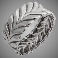 Tiffany Co Stylized Laurel Wreath Napkin Ring Sterling Silver 1940
