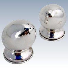 Acorn Salt Pepper Shakers Sterling Silver Pair Egypt 1950