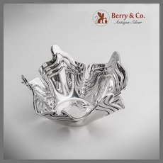 Art Moderne Shell Form Bowl 900 Silver CG 1950