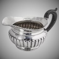 Antique Ribbed Gadrooned Large Creamer 813 Standard Silver Wood Vienna 1836