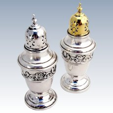 Strasbourg Salt Pepper Shaker Set Sterling Silver Gorham 1897