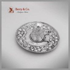 Floral Sombrero Dish Sterling Silver Sanborns 1960