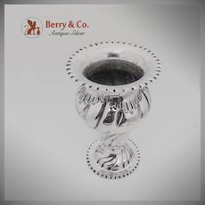 Spiral Shell Pie Crust Vase Italian 800 Silver Guiseppe Giovanola 1950