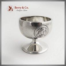 Medallion Open Salt Dish Coin Silver Gorham 1870