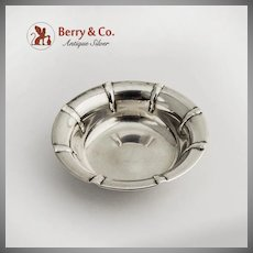 Small Fluted Open Salt Dish Sterling Silver 1940