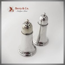Tower Salt and Peppe Shakers Sterling Silver Gorham Silversmiths 1920