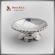 Open Salt Dish Rope Border Sterling Silver Mexico