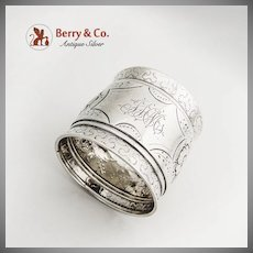 Aesthetic Large Napkin Ring Sterling Silver 1880