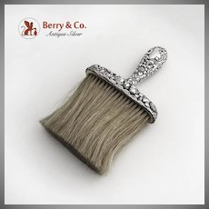 Ornate Repousse Brush Sterling Silver Handle Horse Hair Wallace 1890