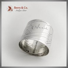 Art Nouveau Napkin Ring Germany 800 Silver Friedlaender  Jugendstil 1900