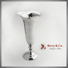 Trumpet Vase Sterling Silver Shreve and Co