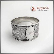 Aesthetic Napkin Ring Bird by Wendt Sterling Silver c.1870