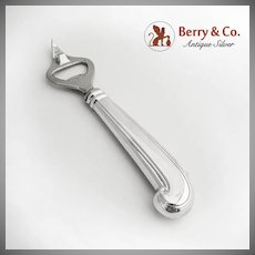 Pistol Grip Handle Bottle Opener Sterling Silver Handle