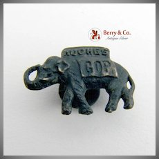 Hughes GOP Elephant Collar Pin Presidential Campaign 1916