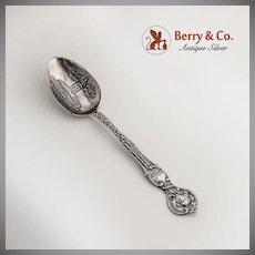 Seattle Washington Souvenir Spoon Union Depot Bowl Sterling Silver 1900
