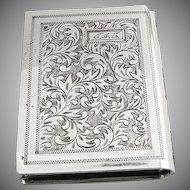 Book Form Compact Sterling Silver 1930