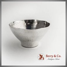 Arts and Crafts Hammered Bowl Hand Made Sterling Silver