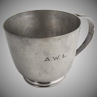 Arts and Crafts Hammerd Cup Sterling Silver David R Longhi