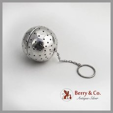 Tea Ball Sterling Silver Webster 1940