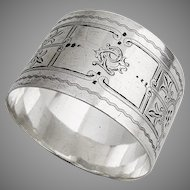 Aesthetic Napkin Ring Sterling Silver London 1892