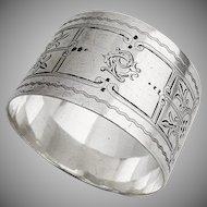 Aesthetic Napkin Ring Sterling Silver London 1892