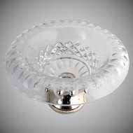 Cut Crystal and Silver Compote Dutch 833 Standard Silver 1930